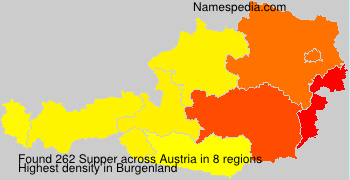 Surname Supper in Austria