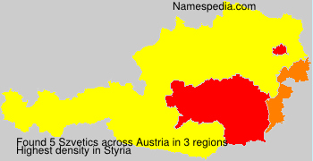 Surname Szvetics in Austria