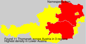 Surname Thomanek in Austria
