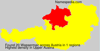 Surname Wassermair in Austria