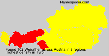 Surname Weirather in Austria