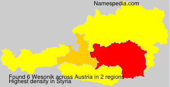 Surname Wesonik in Austria