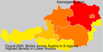 Surname Winter in Austria