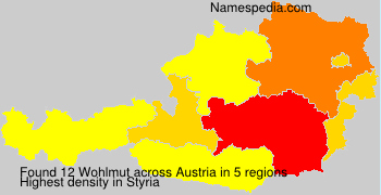 Surname Wohlmut in Austria