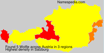 Surname Wolfle in Austria
