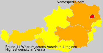 Surname Wolfrum in Austria