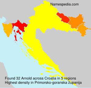 Surname Arnold in Croatia