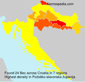 Surname Bec in Croatia