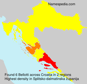 Surname Bellotti in Croatia