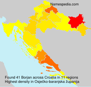 Surname Borjan in Croatia