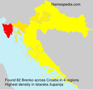 Surname Brenko in Croatia