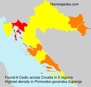 Surname Cedic in Croatia
