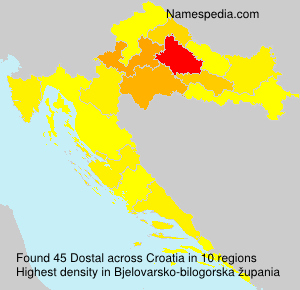 Surname Dostal in Croatia