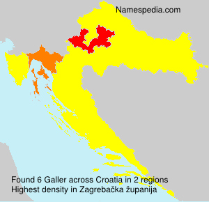 Surname Galler in Croatia