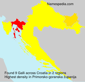 Surname Galli in Croatia