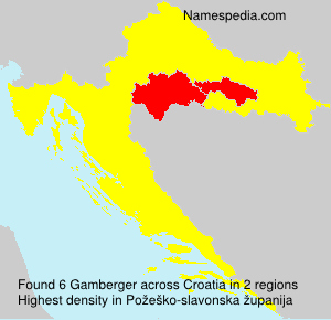 Surname Gamberger in Croatia