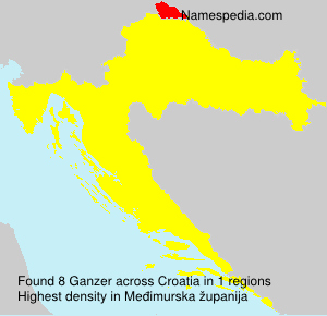 Surname Ganzer in Croatia