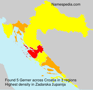 Surname Gerner in Croatia
