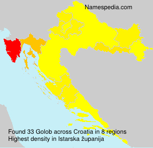 Surname Golob in Croatia