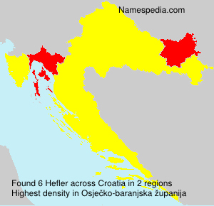 Surname Hefler in Croatia