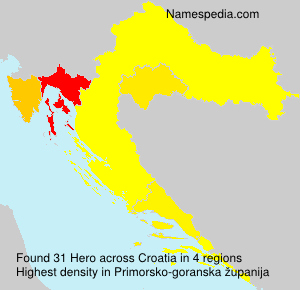 Surname Hero in Croatia