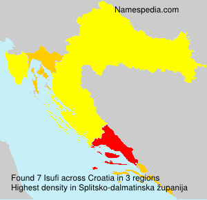 Surname Isufi in Croatia
