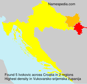 Surname Ivokovic in Croatia
