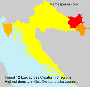 Surname Izak in Croatia