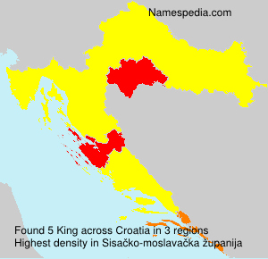 Surname King in Croatia