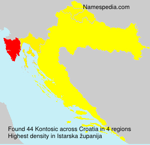 Surname Kontosic in Croatia