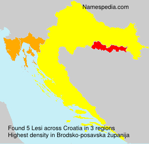 Surname Lesi in Croatia