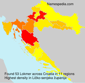 Surname Lokmer in Croatia