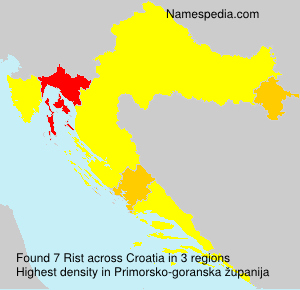 Surname Rist in Croatia