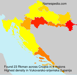 Surname Rkman in Croatia