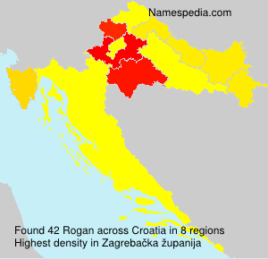 Surname Rogan in Croatia