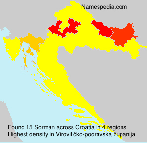 Surname Sorman in Croatia