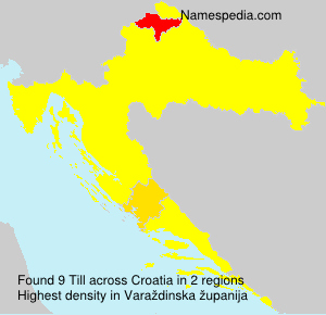 Surname Till in Croatia