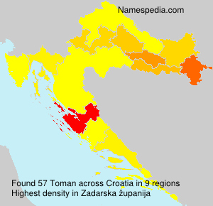 Surname Toman in Croatia