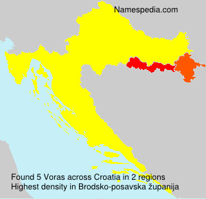 Surname Voras in Croatia