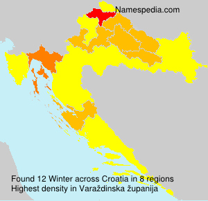 Surname Winter in Croatia