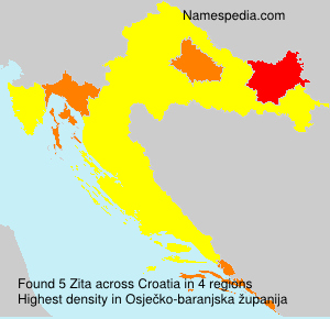 Surname Zita in Croatia