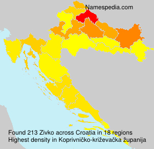 Surname Zivko in Croatia