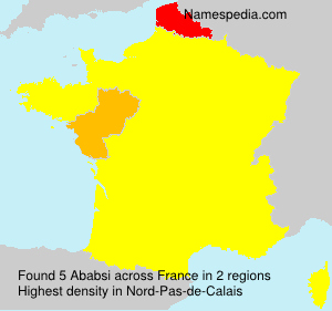 Surname Ababsi in France