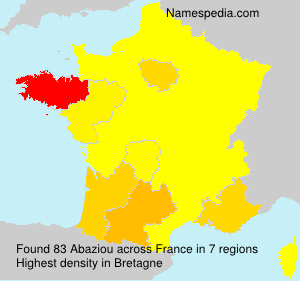 Surname Abaziou in France