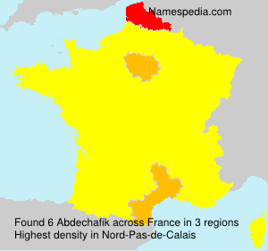 Surname Abdechafik in France