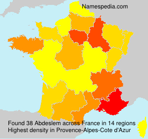 Surname Abdeslem in France