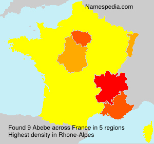 Surname Abebe in France