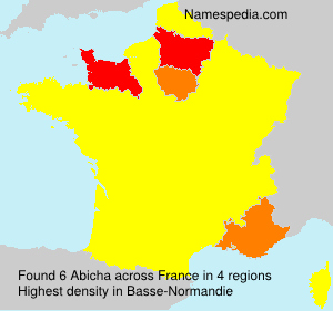 Surname Abicha in France