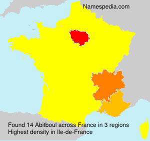 Surname Abitboul in France