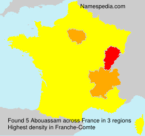 Surname Abouassam in France